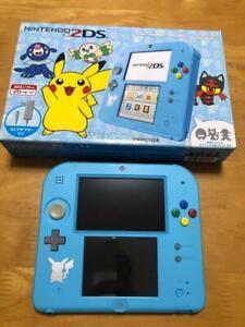 Nintendo-2DS-console-Sun-Moon-Light-Blue-Pikachu-Pokemon-Japanese