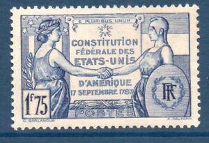 TIMBRE-N-357-NEUF-GOMME-ORIGINE-SESQUICENTENAIRE-DE-LA-CONSTITUTION-DES-USA