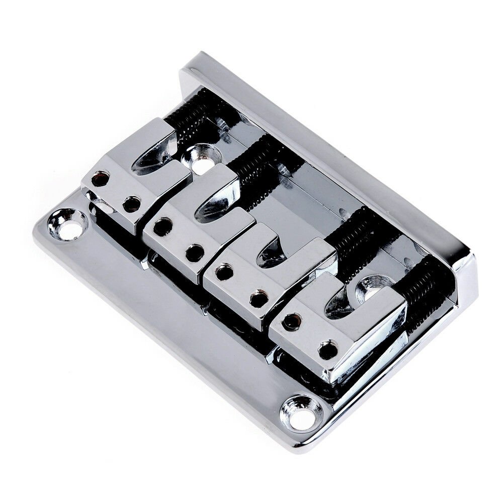 bass bridge l saddle for 4 string bass guitar parts chrome with wrench 634458227643 ebay. Black Bedroom Furniture Sets. Home Design Ideas