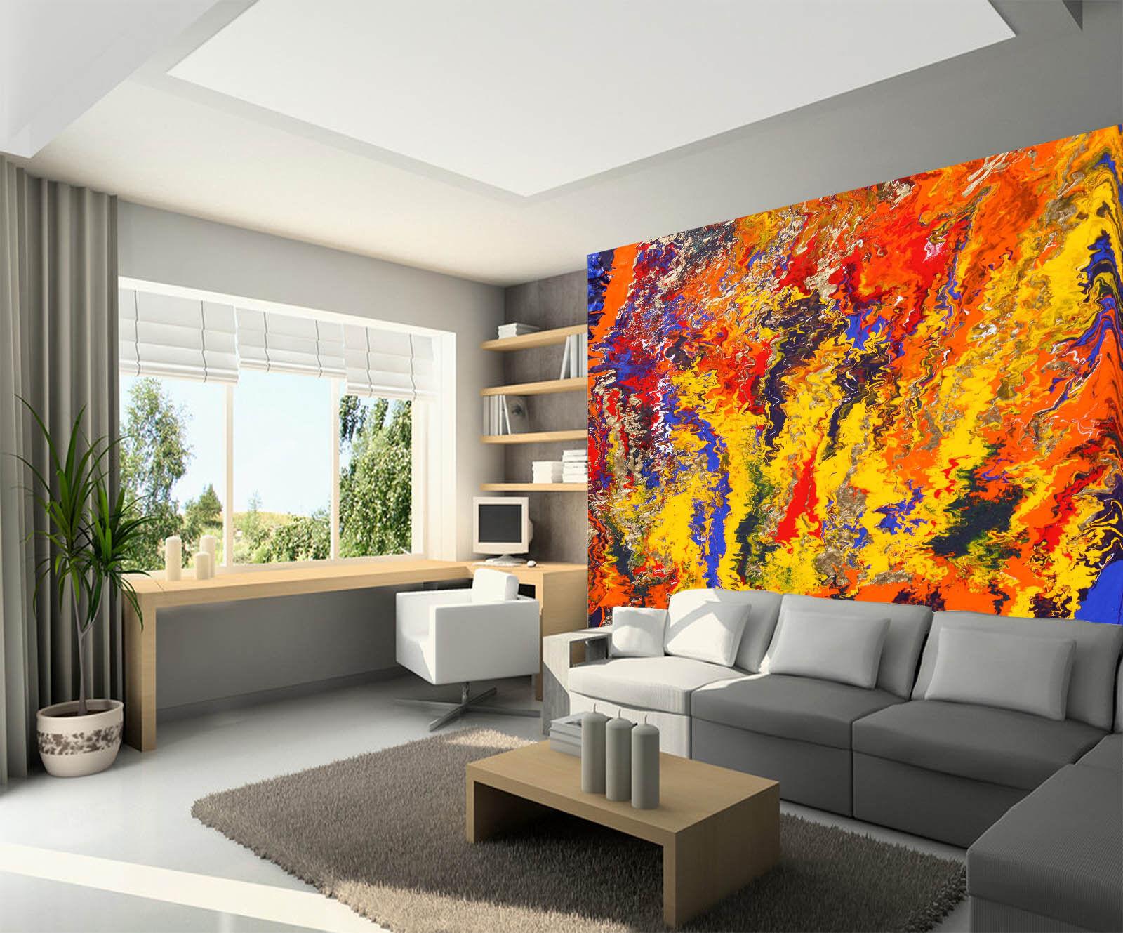 3D Farb Kunst Graffiti 77 Tapete Wandgemälde Tapete Tapeten Bild Familie DE