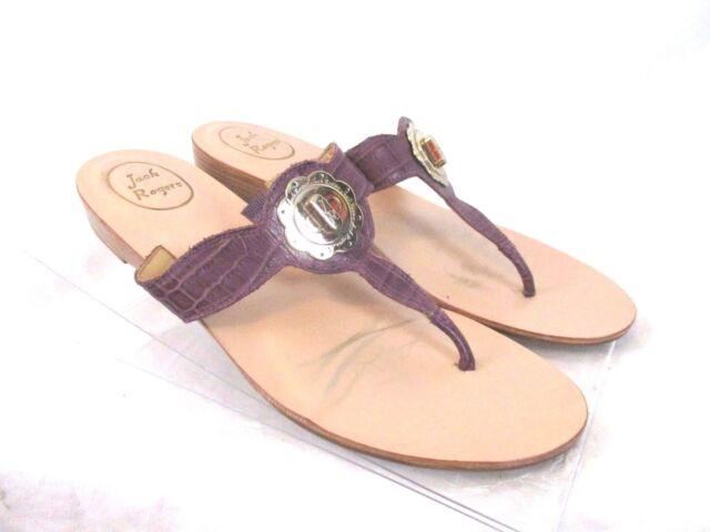 Jack Rogers Womens Thong Sandals Purple Sz 9.5 Flip Flop Slide On Casual SS8