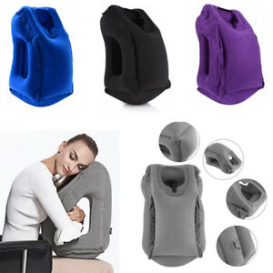 Inflatable Air Blow Up Travel Camping Flight Pillow For