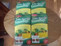 Debbie Meyer Green Bags Fruit & Vegetable Storage 40 Medium & 40 Large 4 Boxes