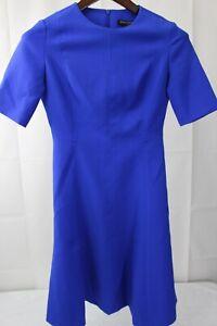 Banana-Republic-Stretch-poliester-y-rayon-mezcla-Fit-amp-Flare-Azul-Vestido-Talla-2