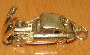 Vintage-9ct-Oro-Amarillo-apertura-E-Type-Jaguar-encanto-de-Coche-10-2g