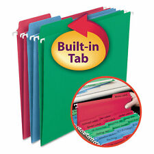Smead Fastab Hanging File Folders Letter Assorted Primary 18box 64053