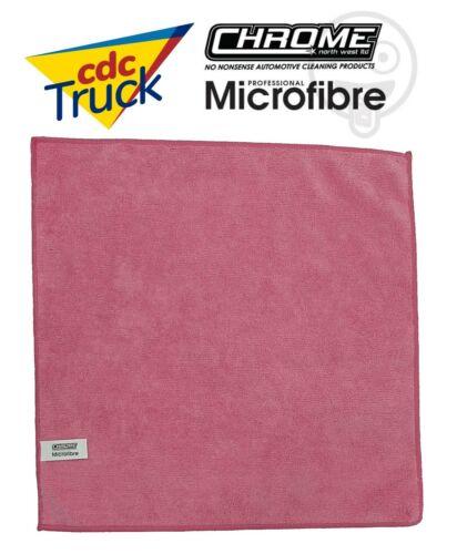 Chrome /'PINK/' Microfibre Cloth 40cm x 40cm 300gsm 30 Pack Free Postage NW