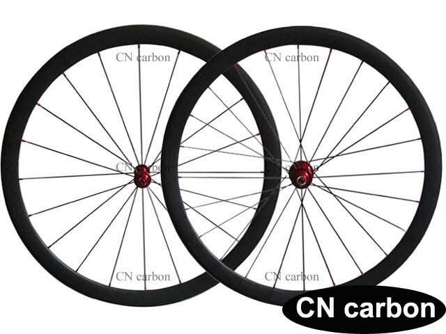 Ceramic bearing hub 38mm Clincher carbon road wheels 23mm,25mm U Shape
