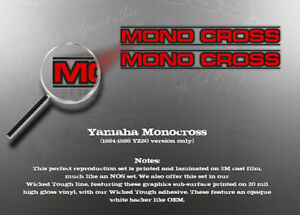 YAMAHA MONOCROSS SWINGARM DECAL GRAPHIC LIKE NOS YZ80 ONLY (smaller size)