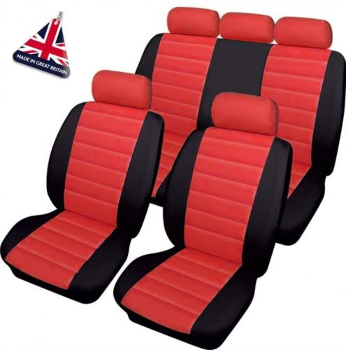 Full Set RED//BLACK Leather Look Car Seat Covers Toyota Land Cruiser Colorado