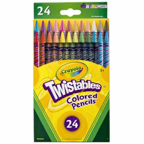 Twistables Crayola Lápices De Colores Dibujo Artes y Artesanías Paquete de 24