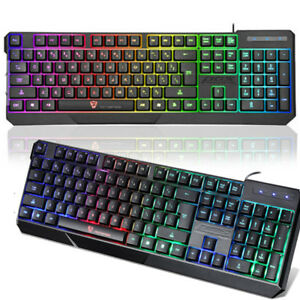 Waterproof Hot Fashion Motospeed K70 Led Illuminated Backlit Usb Wired Keyboard Ebay