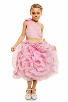 New Flower Girl Bridesmaid Party Dress in Ivory Pink 3 4 5 6 7 8 9 Years