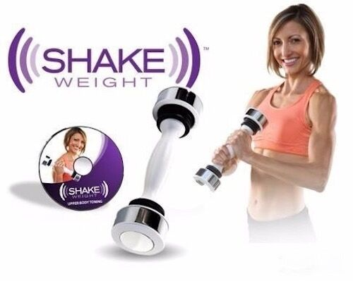 Mancuerna Shake Weight inercia dinamica peso de 2.5 lbs movimiento visto en Tv