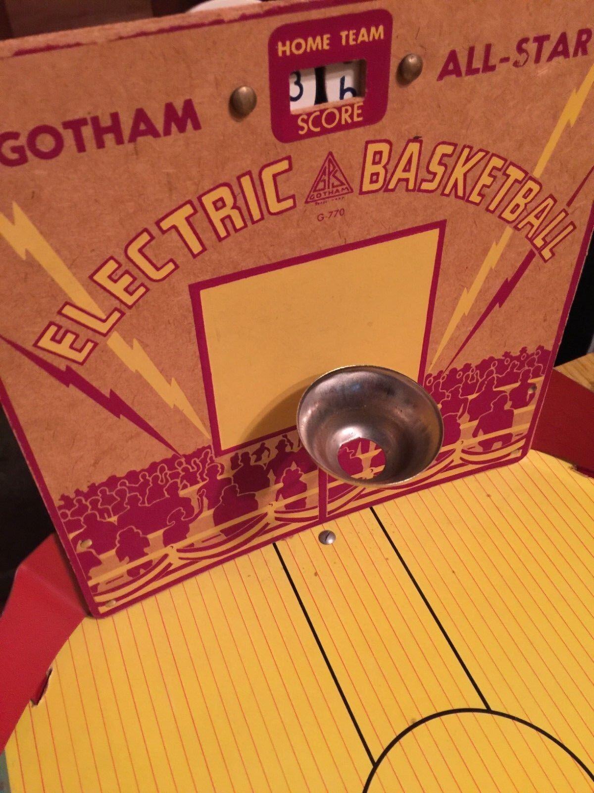 Gotham All-Star Vibrating BASKETBALL 1940's mint in original box box box no 770 6a6b66