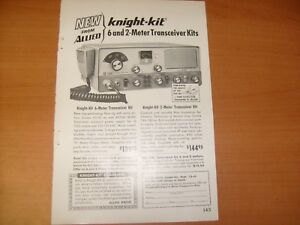 Details about KNIGHT Allied 6 and 2 Meter Transceiver Kit Ad Print  Advertisement Original / e5