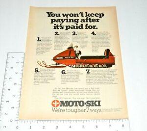 Quebec-Moto-Ski-Snowmobile-1970-Vintage-Print-Ad-For-1971-Model-Snow-Winter-Play