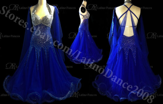 BALLROOM / STANDARD COMPETITION SHOW DRESS WITH HIGH QUALITY RHINESTONE  ST158