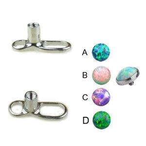 1,2mm Synth Opal Dermal Anchor Aufsatz Stahl Anker Surface Piercing 3,4,5mm