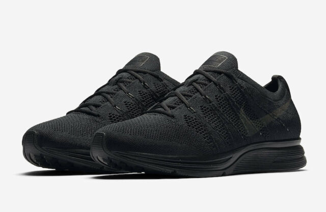 super popular f5039 f6859 Mens Nike Flyknit Trainer AH8396-004 Black Anthracite NEW Size 9.5