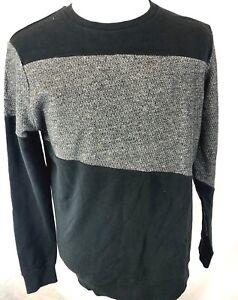 Civil-Society-Men-039-s-Argyle-Pull-Over-Sweater-XL-Wool-Blend-V-Neck-Gray-Black