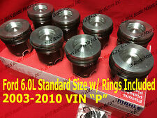 Ford 6.0 6.0L Diesel Standard Pistons Set 2003-2010 w/rings MAHLE Clevite Coated
