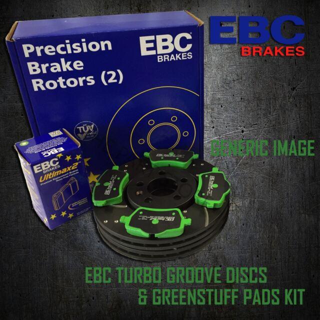 EBC 307mm FRONT TURBO GROOVE GD DISCS GREENSTUFF PADS KIT SET KIT7120