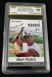 NEW-Albert-PUJOLS-2004-MAPLE-WOODS-Featured-ROOKIE-Just-AP1-33-GEM-MINT-10