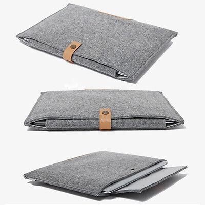"""Grey For 9"""" 9.7"""" 10"""" 10.1"""" 11"""" Tablet Univesal Woolen Felt Sleeve Bag Case Cover"""