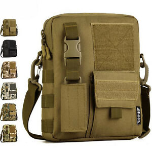 Militaire-Hommes-nylon-messager-bandouliere-epaule-voyage-multi-poches-Sac