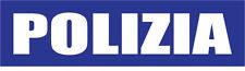 POLIZIA- ITALY/ITALIAN POLICE - THEMED VINYL STICKER 25cm x 7cm
