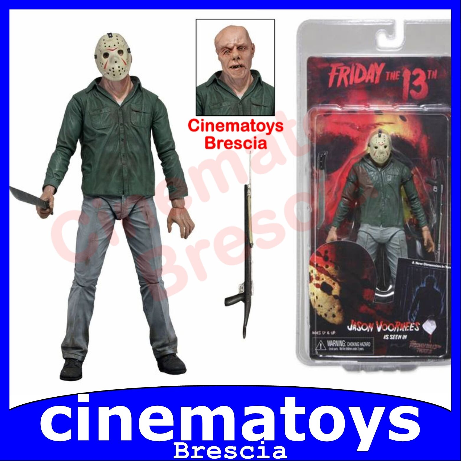 Definitive Jason Voorhees  Friday the 13th Part III NECA Action Figure RARA  offrant 100%