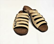 NEW Dansko Janie 8.5-9/39 Sandals Champagne Shimmer Leather Strappy Slip On
