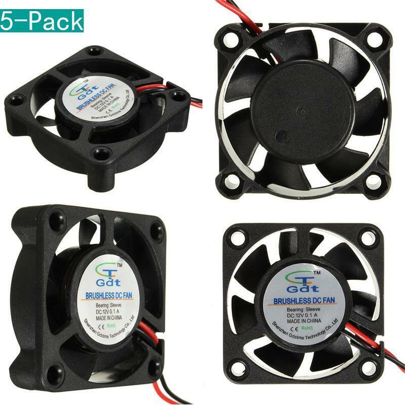 Youmile 5-Pack 12V 40 * 40 * 10Mm Cooling Fan For 3D Printer Parts Reprap Prusa