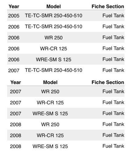 Ferracci Husqvarna Billet Gas Fuel Cap 05-08 Cr Wr Tc Te Smr 125 250 450 510
