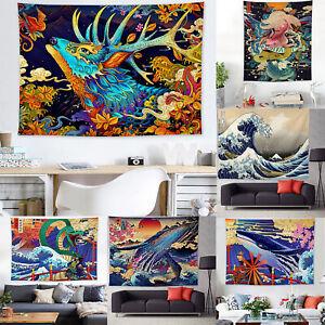 Wal Drucken Meerestiere Wandbehang Wandteppich Gobelin Wandtuch Tapestry Teppich