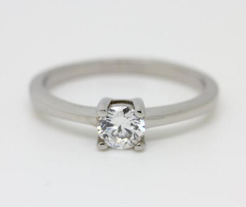 Lab Diamond Solitaire Engagement Ring In Titanium