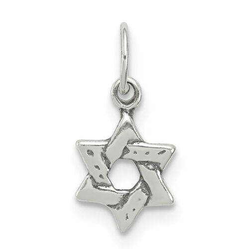 Sterling Silver Small Star of David Charm New Religious Pendant 925