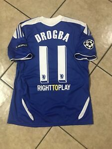 quality design 2697f 481f6 Details about ENGLAND CHELSEA FOOTBALL SHIRT DROGBA SMALL SIZE SOCCER  ADIDAS JERSEY FINAL