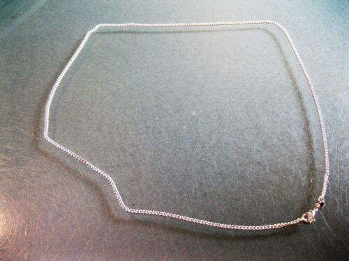 """Authentic Solid 925 Sterling Silver 2 mm Side Curb Cuban Link 24/"""" necklace"""