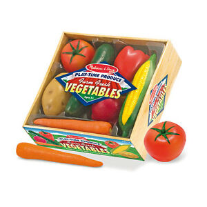 Melissa-and-Doug-Plastic-Play-Time-Vegetables-7-Pieces-Set-NEW-role-play-food