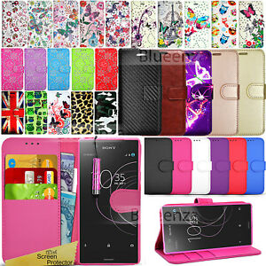 innovative design 492f5 0b83a Details about For Sony Xperia XZ1 Compact XZ2 Phone Case Wallet Leather  Cover Book Stylish NEW
