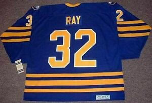 56fc6e188 ROB RAY Buffalo Sabres 1992 CCM Vintage Throwback Away NHL Hockey ...