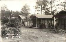 Bemidji MN Log Cabin Court Real Photo Postcard