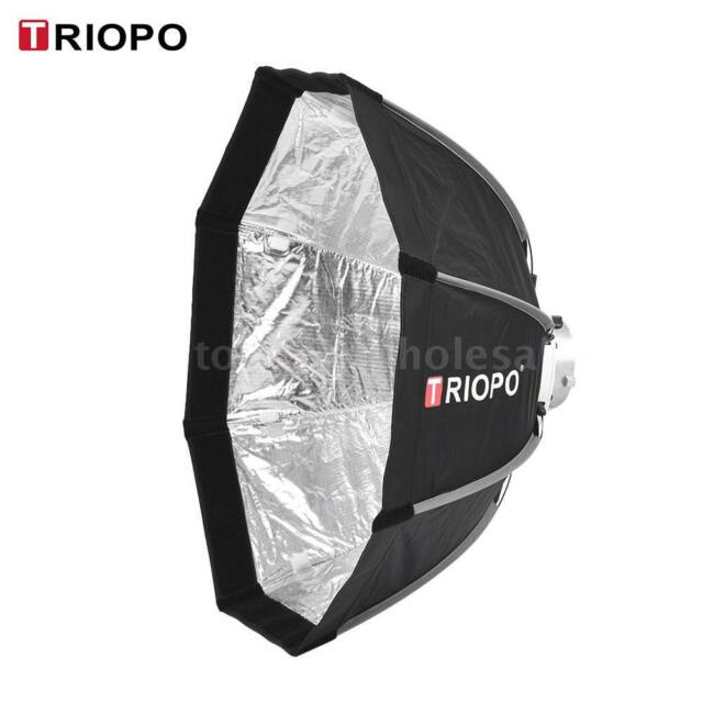 TRIOPO 65cm Foldable 8-Pole Octagon Softbox with Soft Cloth Carrying Bag N9F5