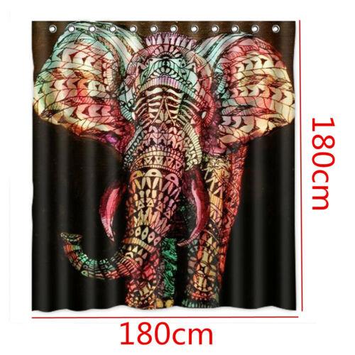4pcs Africa Elephant Non-Slip Bath Toilet Seat Cover Bath Mat Shower