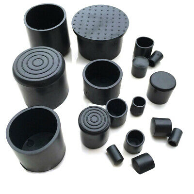 TOUHIA 6mm ID Round Rubber End Cap Thread Protecting Cover 100 Pcs