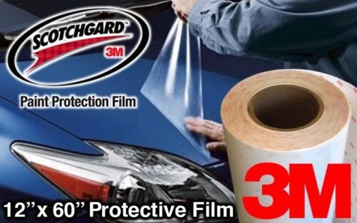 "12/"" x 60/"" Glossy 3M Clear Protective Auto Body Vinyl Vehicle Wrap"