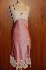 GATTINA Nachthemd lang rosenquarz/champagne Wäschegröße 38 Seide/Elasthan 382805