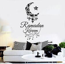 Vinyl Wall Decal Ramadan Kareem Muslim Islamic Stickers Mural (ig4633)